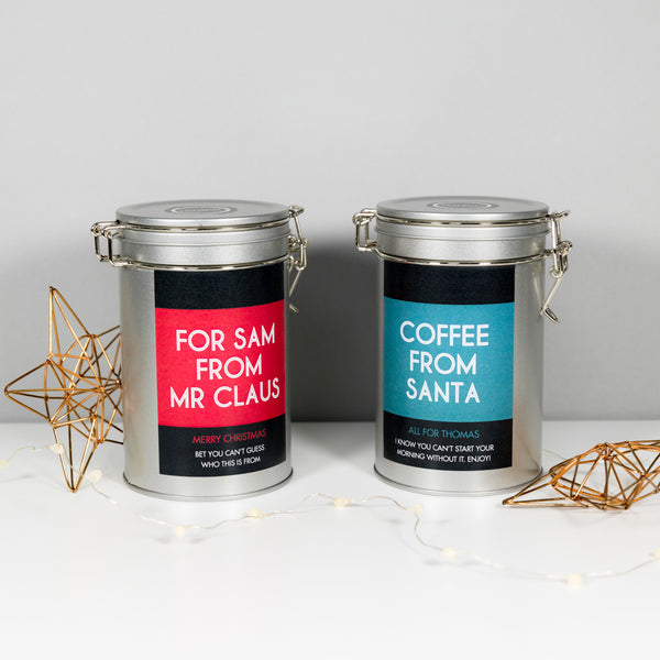 Personalised Christmas Coffee Gift Tin
