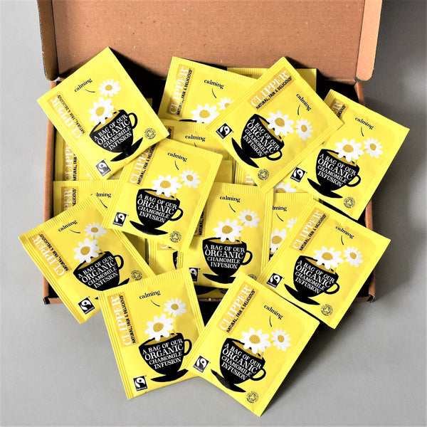 Clipper Organic Chamomile Infusion Tea x16 enveloped tea bags - Letterbox Friendly