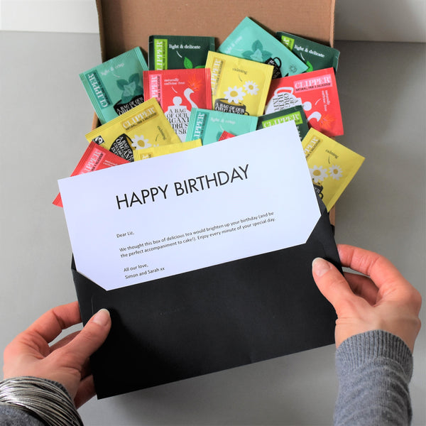 birthday tea gift letterbox friendly