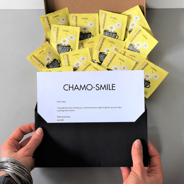 ChamoSmile Tea Gift in Letterbox friendly packaging