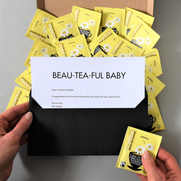 New Baby Tea Gift in Letterbox friendly packaging