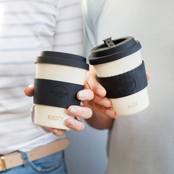Personalised Couples Reusable Coffee Cup Set