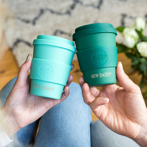 Personalised New Parents Reusable Coffee Cup Set