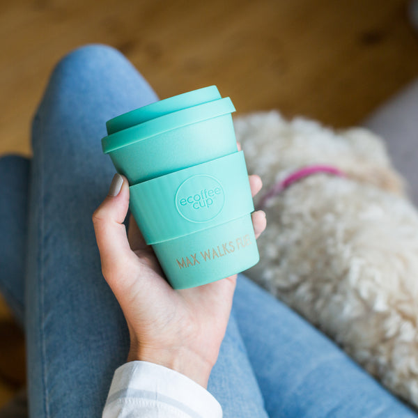 coffee lover dog lover gift reusable coffee cup