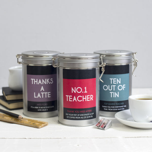 teacher gift personalised novello