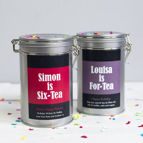 birthday gift tea lover personalised novello