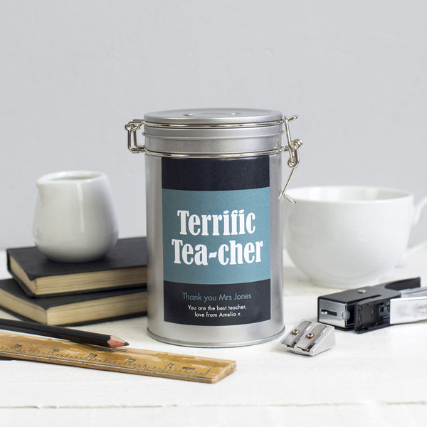 teacher gift tea personalised novello