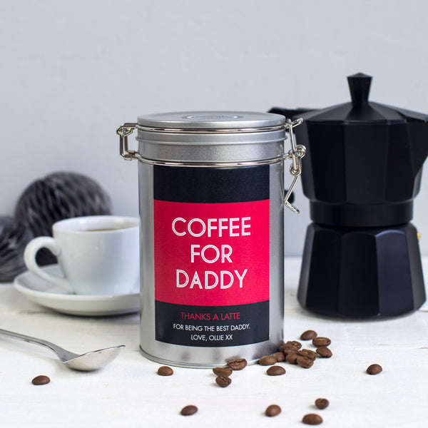 Personalised Message Coffee Gift Tin