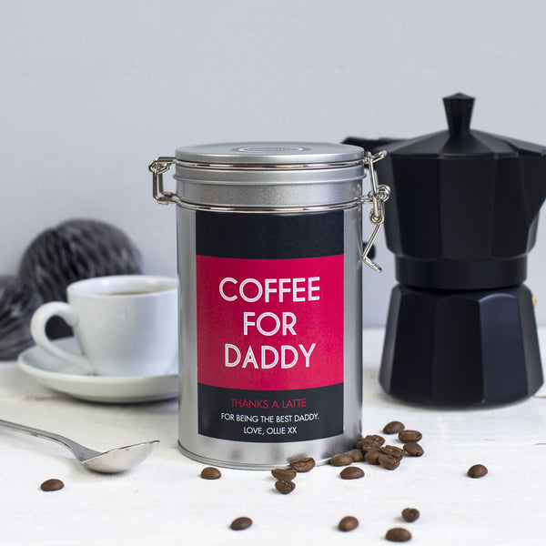 fathers day personalised gift tin novello