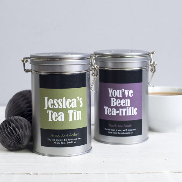 tea lovers gift personalised novello