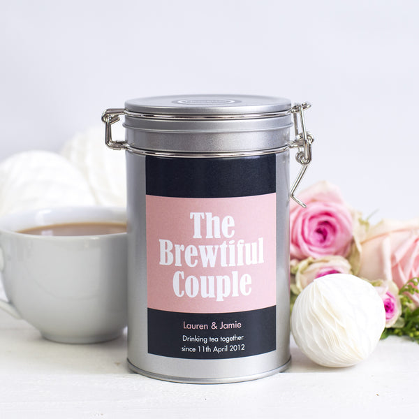 wedding gift tin tea personalised novello