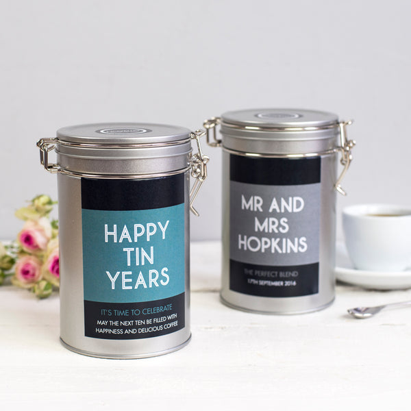 Personalised Couples Coffee Gift Tin