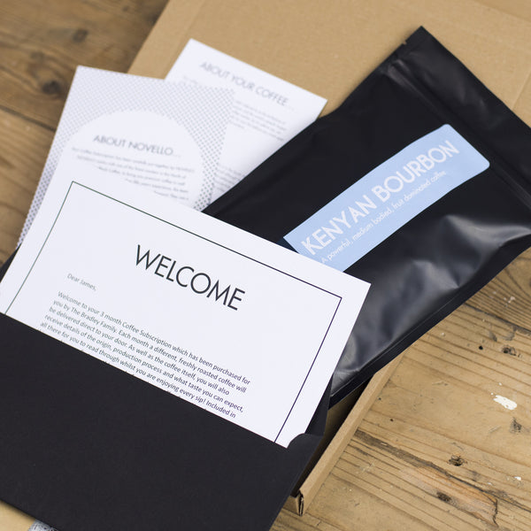 coffee subscription gift monthly novello