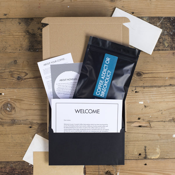 coffee subscription cyclists personalised novello