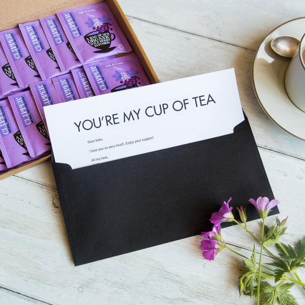 Valentines Day Personalised Letterbox Tea Gift