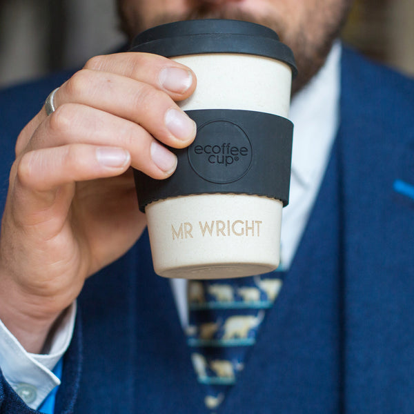 personalised etched reusable coffee cup