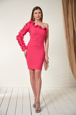 Pink bodycon dress