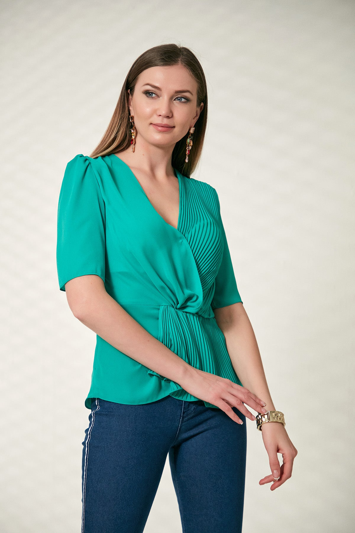 Wrap Top in green