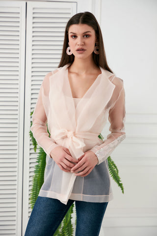 One Shoulder Ruffle Top in pink