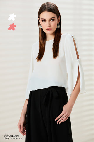 9b71a7e224c9a Cold-Shoulder Sleeve Top - 15809. £49.00. Silver Feather ...