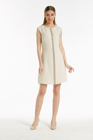 Smart sleeveless shift dress - 54177