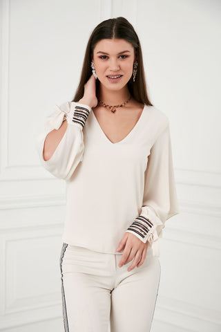 White Top with frill