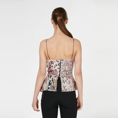 Animal print strapless sequin top - 16234