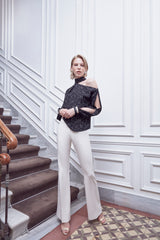 High waist lined classic trousers  - 41992