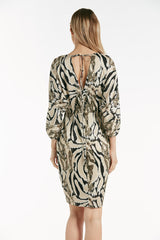 Animal print wrap front dress - 54274