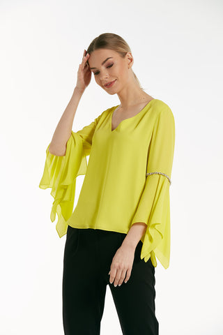Elegant sleeveless wrap top - 16231