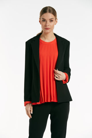 Long sleeves smart black jacket - 61817