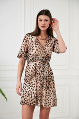 Leopard Twist Dress