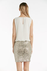 Sequin bodycon bottom dress - 54130