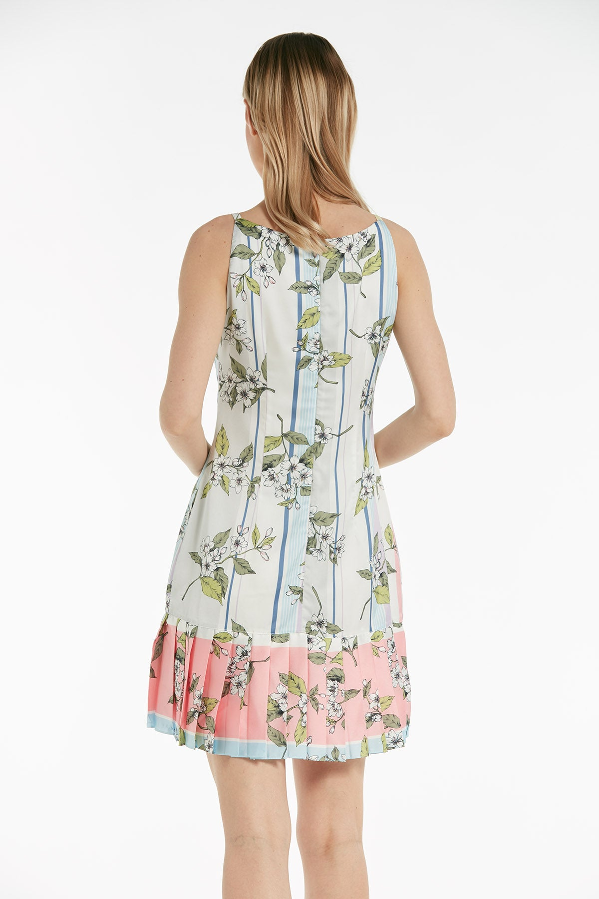 Sleeveless skater printed dress - 53517
