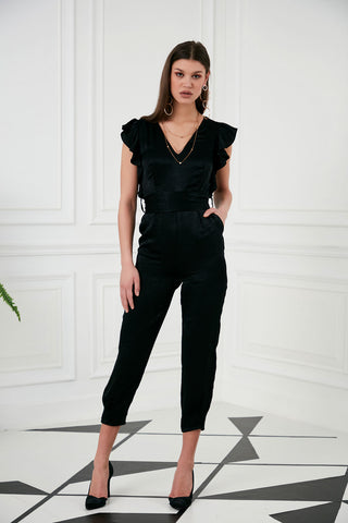 High waist belted wide trousers  - 41983