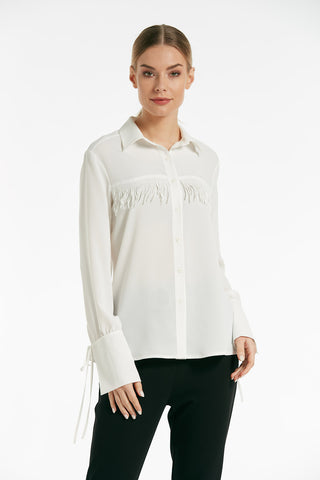 Long sleeves button blouse - 16122