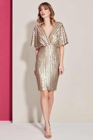 V Neck A shape Sequin Party Dress
