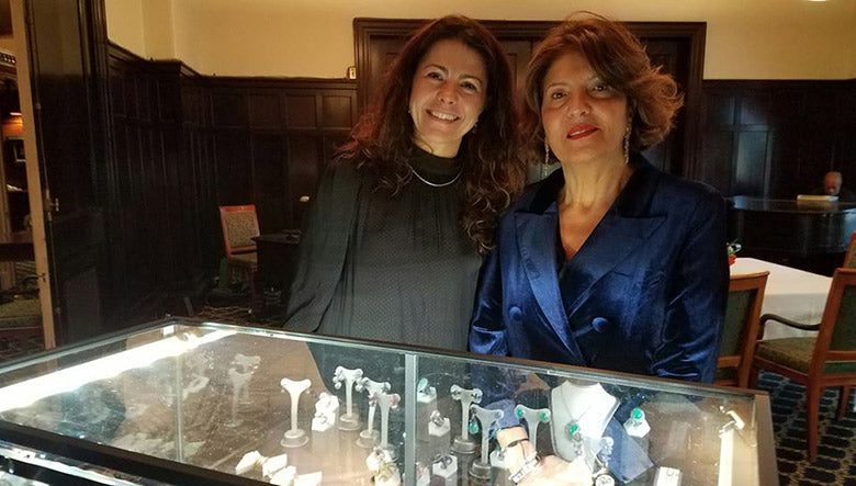Raquel Alonso Perez, Curator of the Harvard Museum of Natural History with Melina Giandomenico