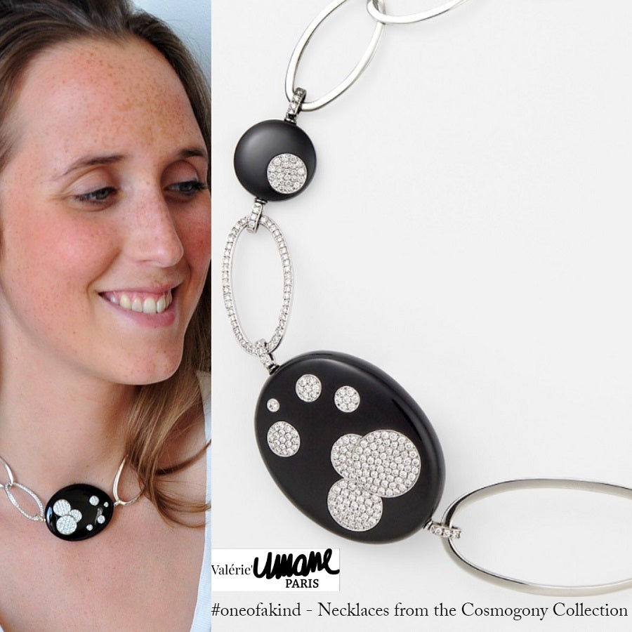 Cosmogony Collection Onyx & Diamond Necklace - GERARDRIVERON
