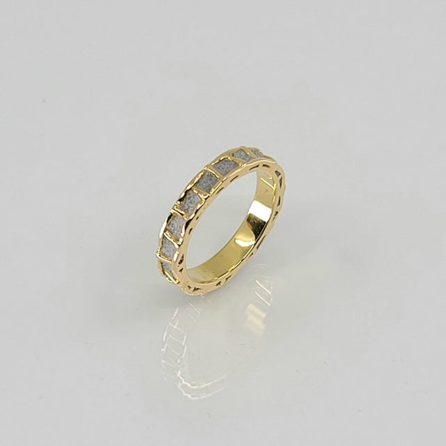 YELLOW GOLD RING PATRICE FABRE BÉTON ONE ROW MS