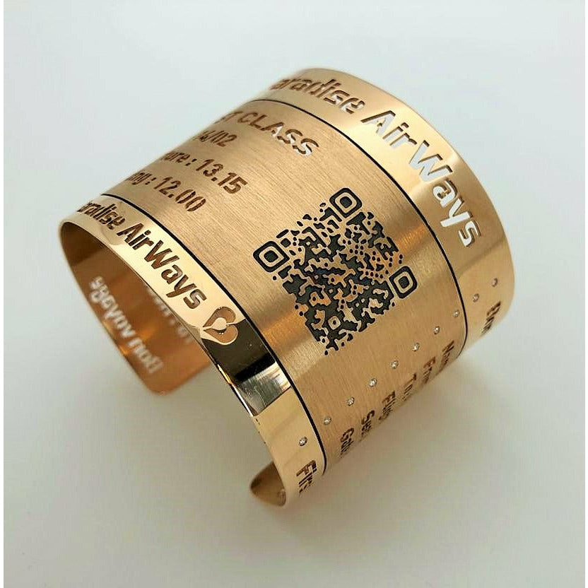 Boarding Pass Bracelet in Rose Gold - GERARDRIVERON