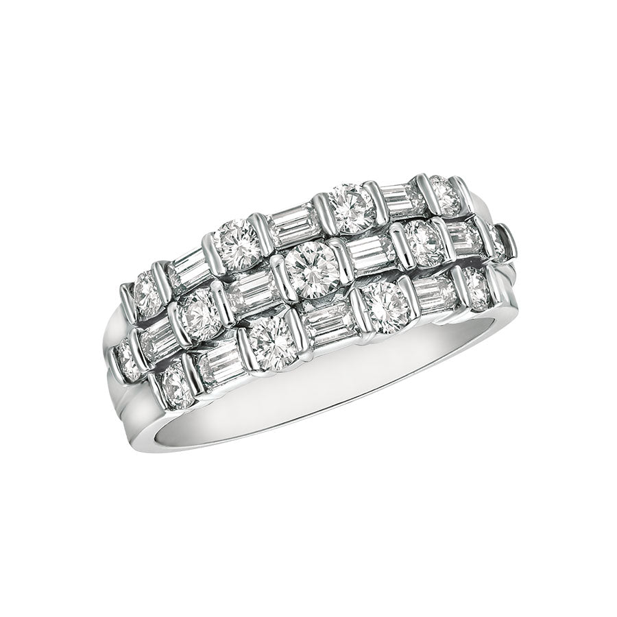 #ALACARTEBRIDAL GK PLATINUM AND DIAMOND WOMEN'S RING