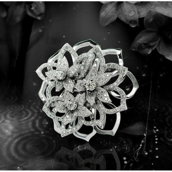 BOUQUET DE JASMIN LARGE RING DIAMONDS, FLORILÈGE COLLECTION #ALACARTEBRIDAL
