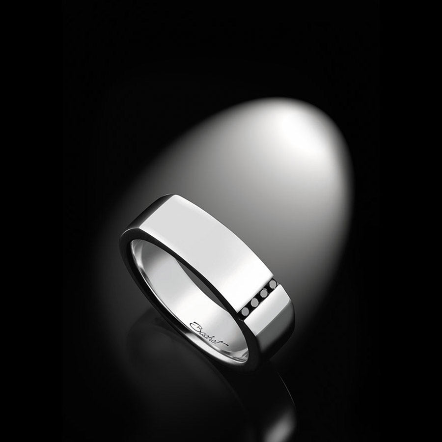 Men's Collection Unik Man Signet Ring 'Spirit' White Gold - GERARDRIVERON
