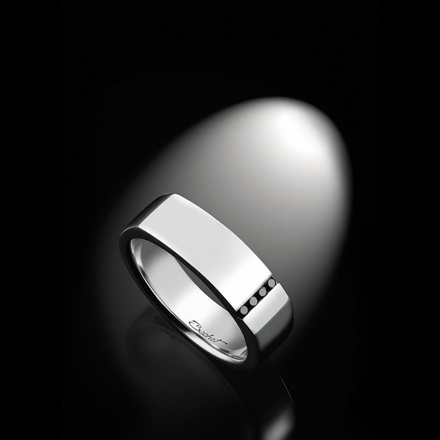 Maison Bachet Unik Man Signet Ring 'Spirit', White Gold Men's Jewelry