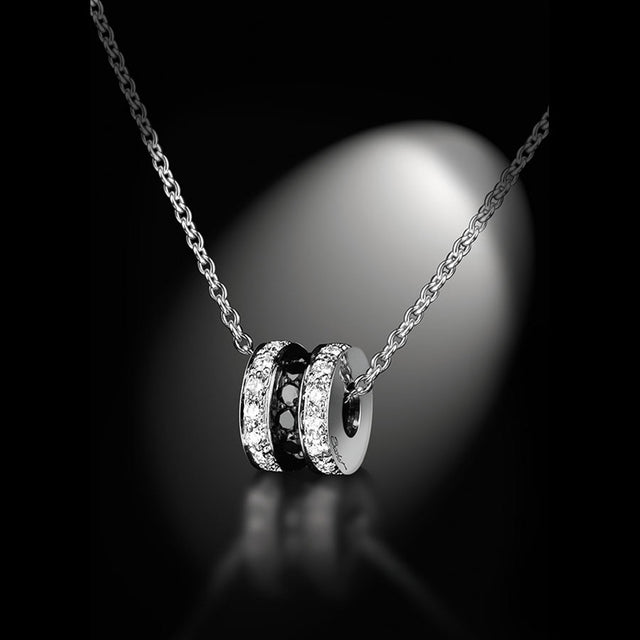Maison Bachet Pendent 'Scroll In Love' Small, White Gold Women's Collection