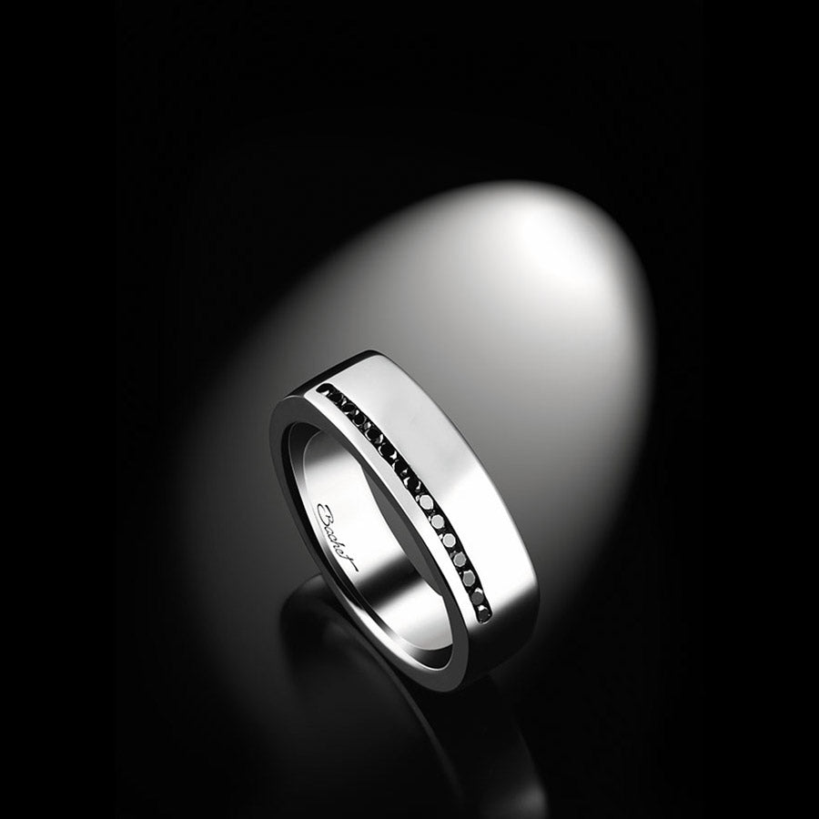 Men's Collection Unik Man Signet Ring 'Perfect' White Gold - GERARDRIVERON