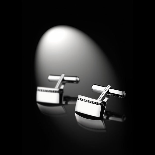 Men's Collection Unik Man Cufflinks 'Perfect' White Gold - GERARDRIVERON