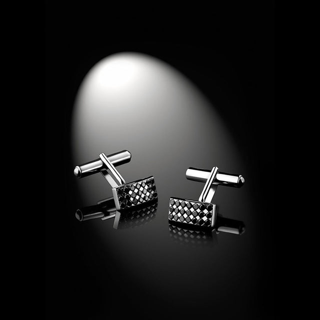Men's Collection Unik Man Cufflinks 'Mystérieux' White Gold