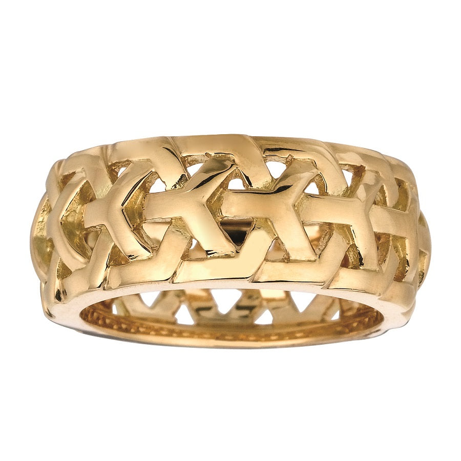 #ALACARTEBRIDAL YELLOW GOLD NARROW BAND, Y KNOT Collection - GERARDRIVERON